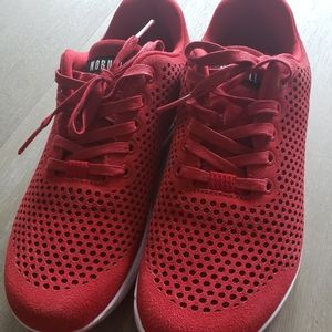 Red NoBull suede trainers size 9.5 men